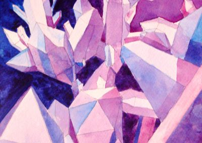 Quartz Crystals watercolor painting