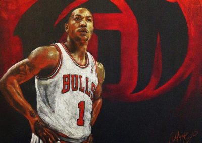Bulls 1 Derek Rose drawing